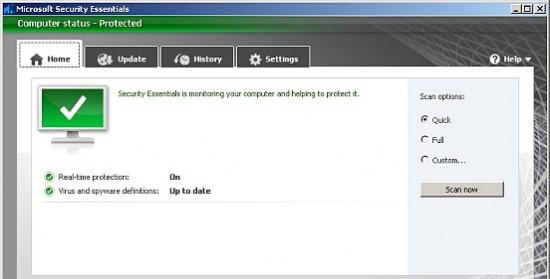 microsoft security essentials antivirus